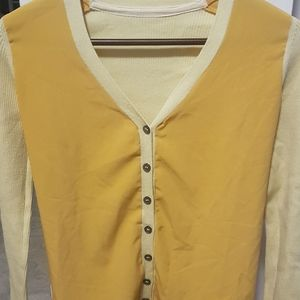 Colors Gold & Beige Sweater